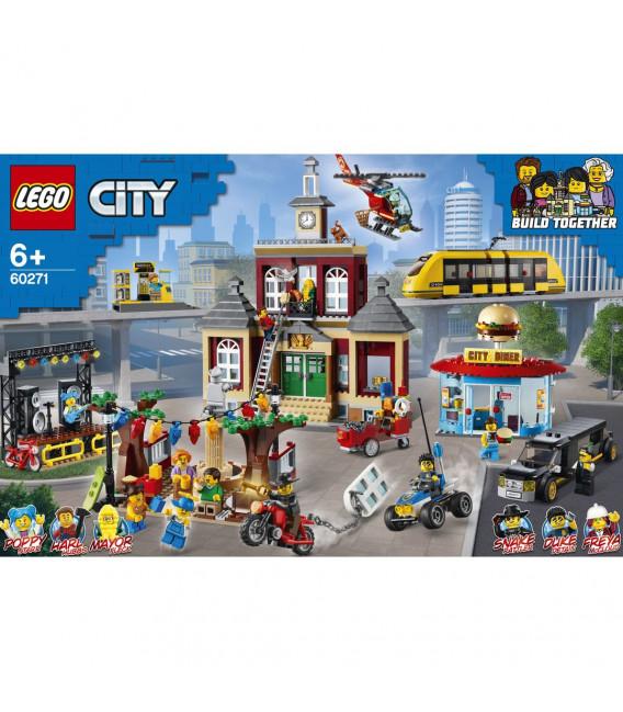LEGO® D2C 60271 City Main Square, Age 6+, Building Blocks, 2020 (1517pcs)