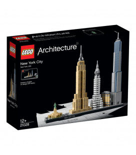 LEGO® Architecture 21028 New York City, Age 12+, Building Blocks (598pcs)