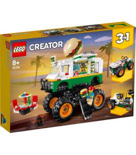 LEGO® Creator 31104 Monster Burger Truck, Age 8+, Building Blocks, 2020 (499pcs)