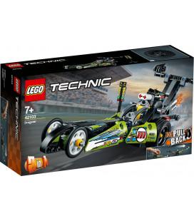 LEGO® Technic 42103 Dragster, Age 7+, Building Blocks, 2020 (225pcs)