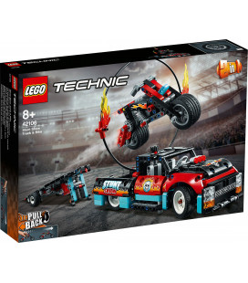 LEGO® Technic 42106 Stunt Show Truck & Bike, Age 8+, Building Blocks, 2020 (610pcs)