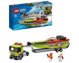 LEGO® City 60254 Race Boat Transporter, Age 5+, Building Blocks, 2020 (238pcs)