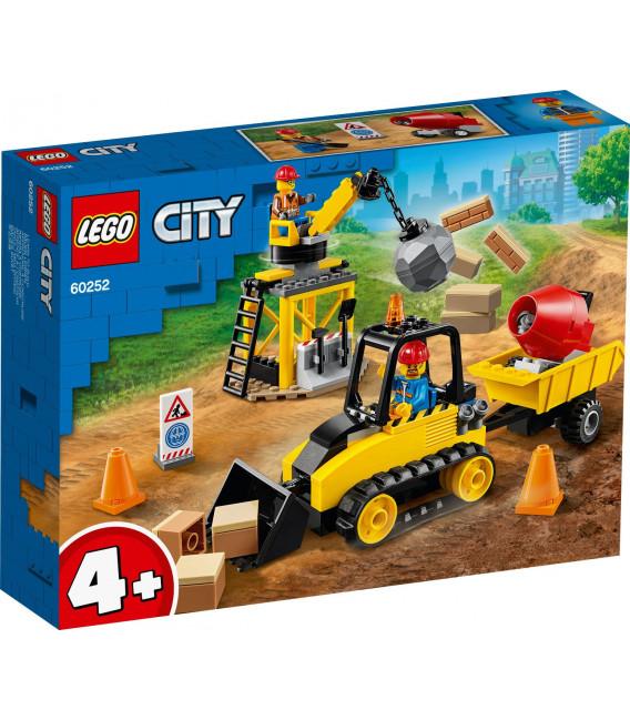 LEGO® City 60252 Construction Bulldozer, Age 4+, Building Blocks, 2020 (126pcs)
