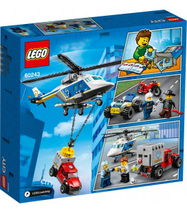 LEGO® City 60243 Police Helicopter Chase, Age 5+, Building Blocks, 2020 (212pcs)