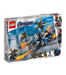 LEGO® Super Heroes 76123 Captain America: Outriders Attack, Age 6+, Building Blocks (167pcs)