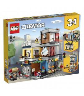 LEGO® Creator 31097 Townhouse Pet Shop & Café, Age 9+, Building Blocks (969pcs)