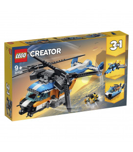LEGO® Creator 31096 Twin-Rotor Helicopter, Age 9+, Building Blocks (569pcs)
