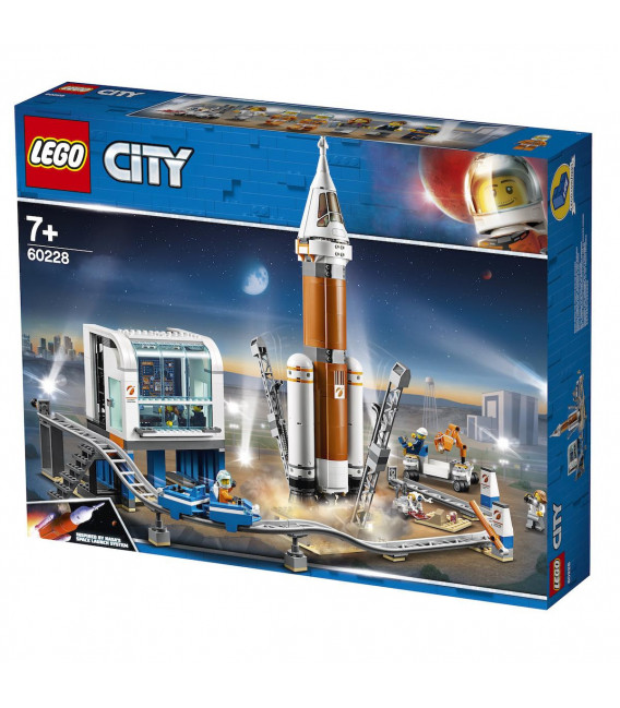 LEGO® City Space 60228 Deep Space Rocket and Launch Control, Age 7+, Building Blocks (837pcs)