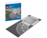 LEGO® City Supplementary 60237 Curve and Crossroad, Age 5+, Building Blocks (2pcs)
