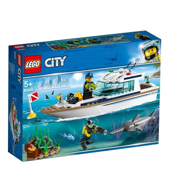 LEGO® City 60221 Diving Yacht, Age 5+, Building Blocks (148pcs)