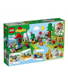 LEGO® DUPLO® Town 10907 World Animals, Age 2+, Building Blocks (121pcs)