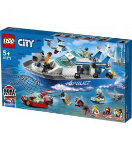 LEGO® City 60277 Police Patrol Boat, Age 5+, Building Blocks, 2021 (276pcs)