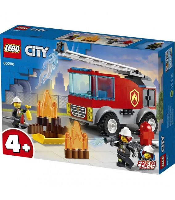LEGO® City 60280 Fire Ladder Truck, Age 4+, Building Blocks, 2021 (88pcs)