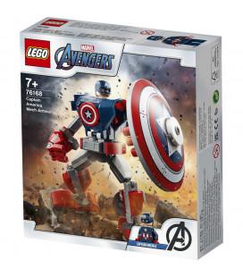 LEGO® Super Heroes 76168 Captain America Mech Armour, Age 7+, Building Blocks, 2021 (121pcs)