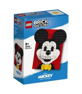 LEGO® LEL 40456 Brick Sketches™ Mickey Mouse, Age 8+, Building Blocks, 2021 (118pcs)