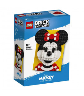 LEGO® LEL 40457 Brick Sketches™ Minnie Mouse, Age 8+, Building Blocks, 2021 (140pcs)