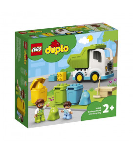 LEGO® DUPLO® 10945 Garbage Truck and Recycling, Age 2+, Building Blocks, 2021 (19pcs)