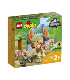 LEGO® DUPLO® 10939 T. rex and Triceratops Dinosaur Breakout, Age 2+, Building Blocks, 2021 (36pcs)