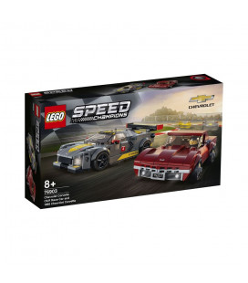 LEGO® Speed Champions 76903 Chevrolet Corvette C8.R Race Car and 1968 Chevrolet Corvette, Age 8+, Building Blocks, 2021 (512pcs