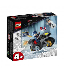 LEGO® Super Heroes 76189 Captain America and Hydra Face-Off, Age 4+, Building Blocks, 2021 (49pcs)
