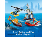 LEGO® City 60308 Seaside Police and Fire Mission, Age 5+, Building Blocks, 2021 (297pcs)